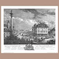 Widok Krakowskiego Przedmieścia w Warszawie, B. Belotto zw. Canaletto, 1771 r.