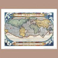 Mapa Świata, A. Ortelius, 1571 r.