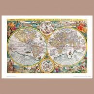 Mapa Świata, P. Plancius, 1594 r.