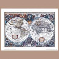 Mapa Świata, H. Hondius, 1630/1641 r.