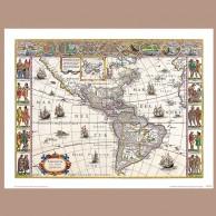Mapa Ameryki, W. Blaeu, 1617 r.