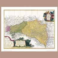 Mapa Galicji i Lodomerii, spadkobiercy J.B. Homann'a, 1775 r.