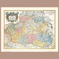Mapa Ziem Korony Polskiej, N. Sanson, 1655 r.