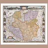 Mapa Polski i Śląska, N. Visscher I, po 1657 r.