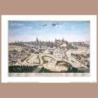 Widok Krakowa od północnego-zachodu, M. Merian/A. Aveline ok. 1740 r.