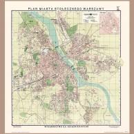 Plan M. St. Warszawy, S.A. KSIĄŻNICA-ATLAS, 1939 r.